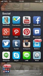Folder di iPhone Saya